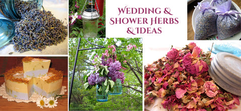 wedding and shower herbs and ideas