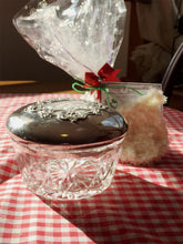 Load image into Gallery viewer, Vintage Powder Jar Gift Set-Vintage Reed & Barton Sterling Silver Cut crystal Powder Dish - Lizzy Lane Farm Apothecary