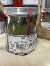 Load image into Gallery viewer, Red Henna Powder- bulk loose in reusable thick glass milk bottle - Lizzy Lane Farm Apothecary