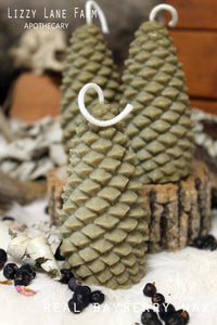 real bayberry pine cone tree christmas candle