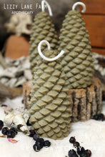 Load image into Gallery viewer, real bayberry pine cone tree christmas candle