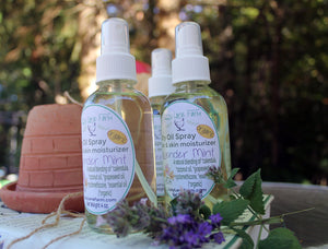 Dry Oil Body Spray- Black Forest- earthy, spice patchouli and citrus - Lizzy Lane Farm Apothecary