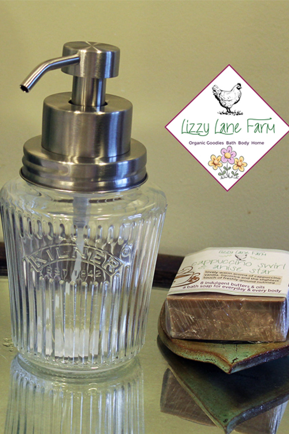 antique kilner fruit jar soap dispenser stainless steel lid and foaming soap pump