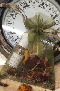 aphrodite intention oil and sachet herb bag