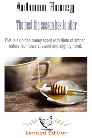 limited edition autumn honey personal perfume oil and body powder