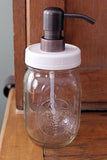 mason jar soap dispenser rust proof lid