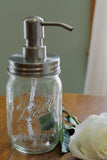 rust proof mason jar soap dispenser