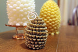 bayberry wax pine cone candle