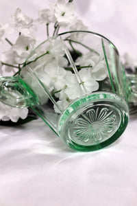 united states glass co- green depression glass sugar bowl