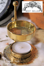 Load image into Gallery viewer, Brass Resin Incense Burner, Fully Adjustable