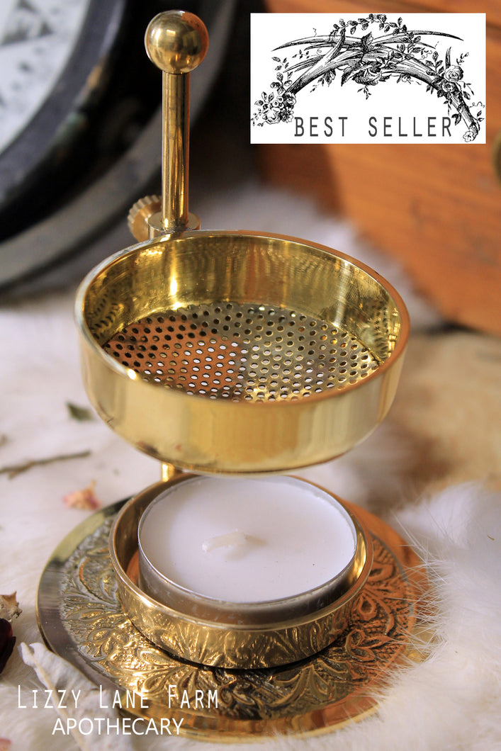 Brass Resin Incense Burner, Fully Adjustable