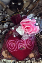Load image into Gallery viewer, carved soapstone heart talisman