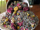 freshly made potpourri an exciting blending of lavender, rose and chamomile. The scent is rose lavender and apple