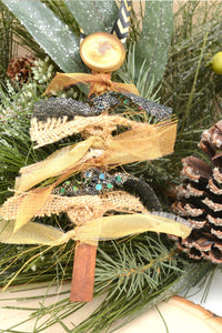 cinnamon stick crafts, tree ornament