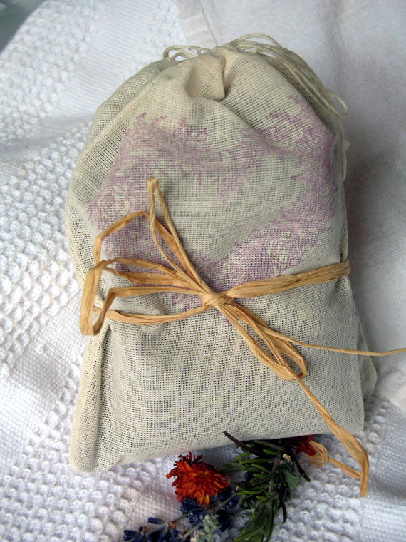 Dream Pillow Sachets- mugwort dream herb, set of 2 - Lizzy Lane Farm Apothecary