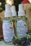 dry oil body spray lavender mint 4 oz. bottle with organic oils and herbs