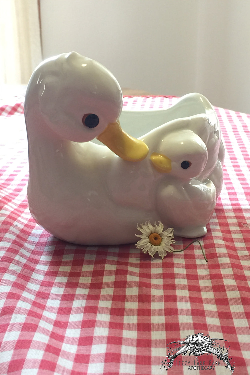 napcoware duck planter, flower vase