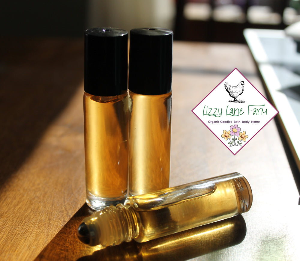 Personal Perfume Oil- BOSTON TEA PARTY. Black Teas & Lemon - Lizzy Lane Farm Apothecary