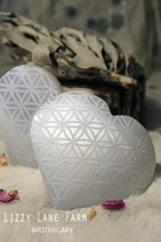 Load image into Gallery viewer, Selenite Heart- Flower of Life Engraved Heart