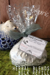 Bulk Organic Dusting Body Powder:Talc, Cornstarch & GMO free:  PICK • YOUR • SCENT :: Herbal Blends - Lizzy Lane Farm Apothecary