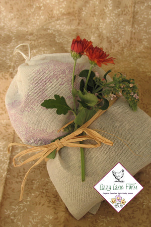 Organic Herbal Moth Repellent Sachet Sets - Lizzy Lane Farm Apothecary