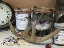 Load image into Gallery viewer, Hawaiian Black Lava Soaking Salts: Hazel-orchid, lemon, tangerine,eucalyptus, lavender tulip - Lizzy Lane Farm Apothecary