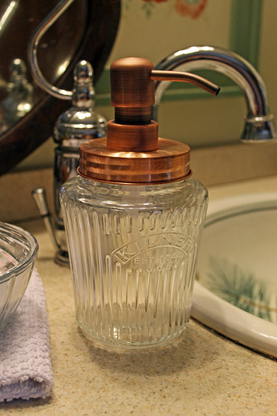 kilner preserve jar copper soap pump