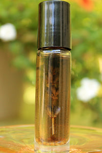 Botanical Personal Perfume Oil- LAVENDER GROVE, Lavender, Cedarwood, Cade, Sage - Lizzy Lane Farm Apothecary