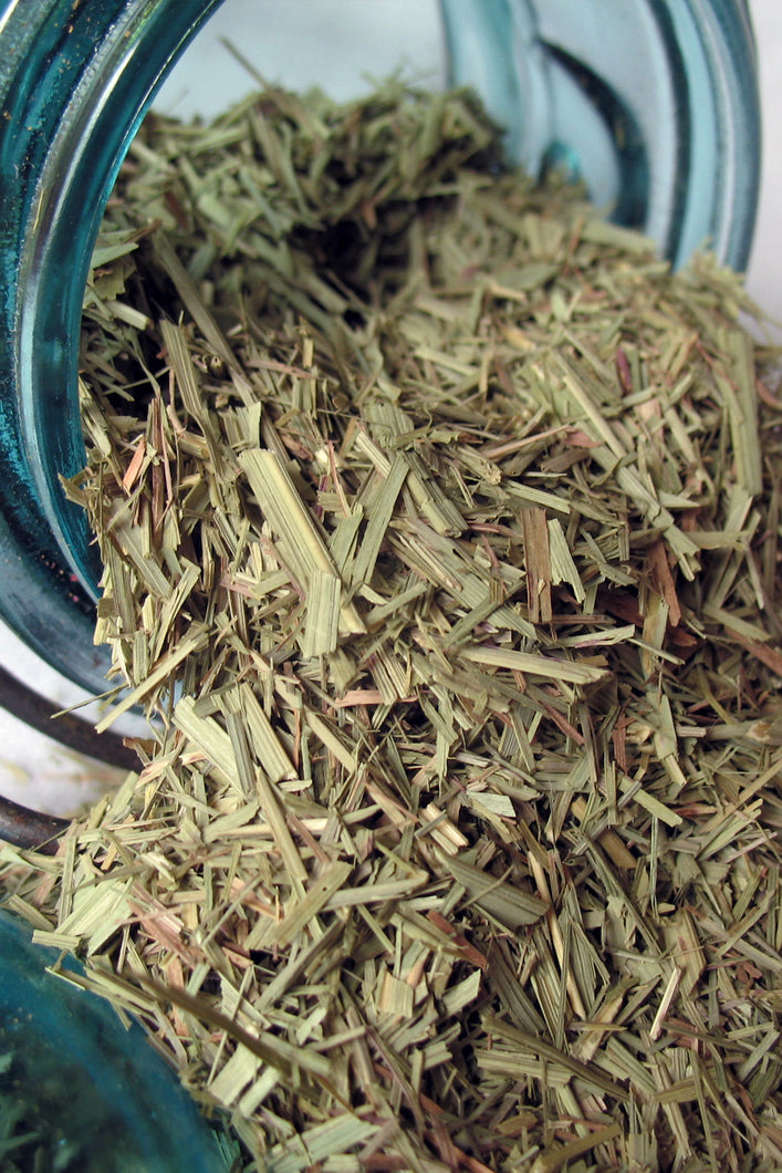 Lemongrass Leaf- Loose Dried Herb (Cymbopogon citratus, syn. Andropogon citratrus) -Organic - Lizzy Lane Farm Apothecary