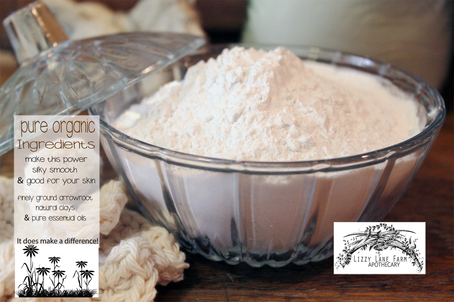 bulk loose organic dusting powder