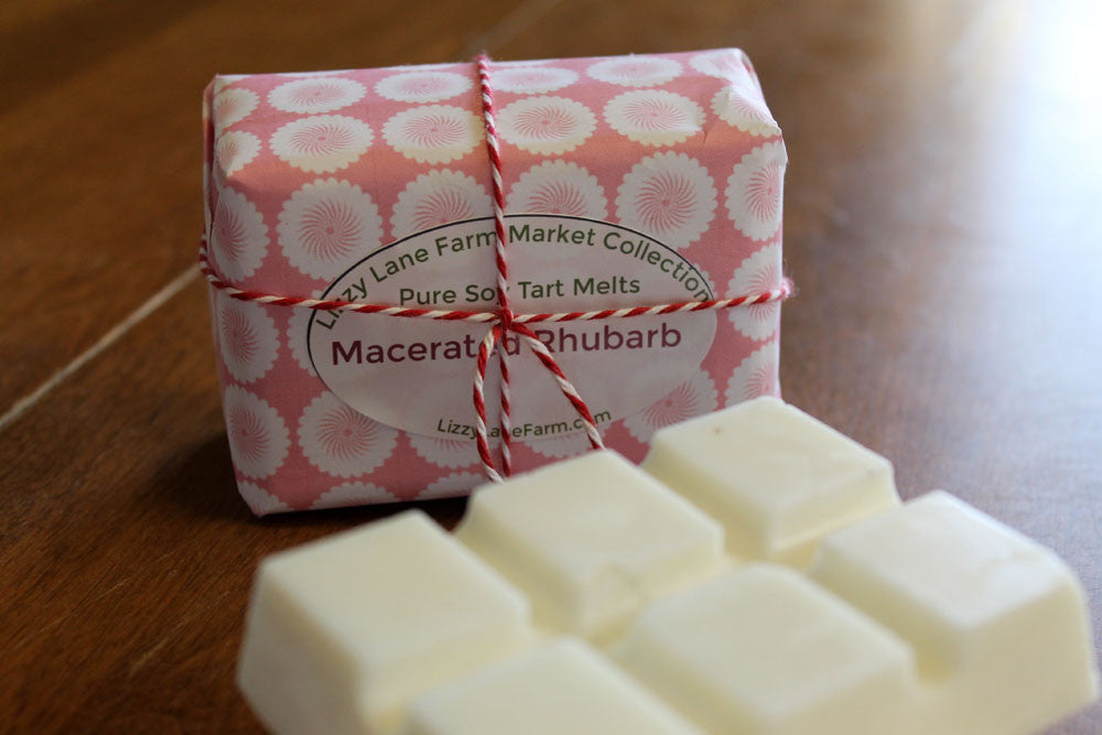 Macerated Rhubarb Wax Melt Tart - Lizzy Lane Farm Apothecary