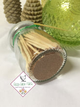Load image into Gallery viewer, Glass Bottles of Matches - Lizzy Lane Farm Apothecary