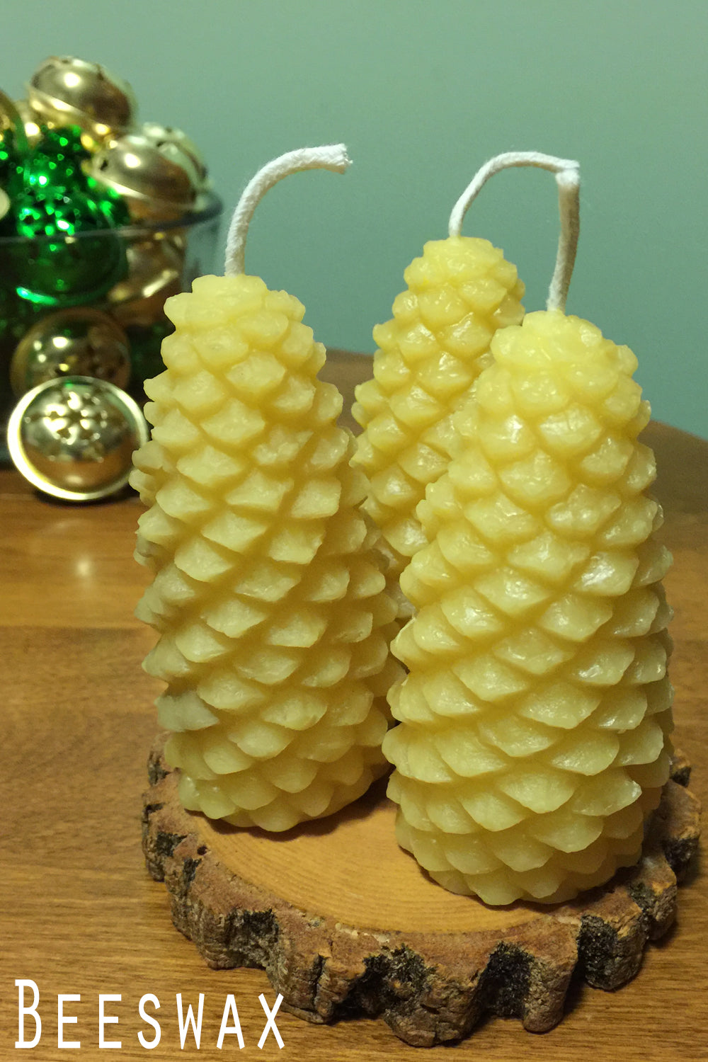 Beeswax Pinecone Candle - Lizzy Lane Farm Apothecary