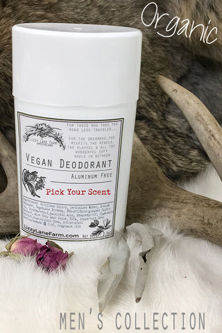 natural deodorant mens scented collection