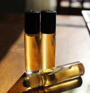 Personal Perfume Oil- CANDY CANE WOODLAND-- minty fresh with hints of blue spruce - Lizzy Lane Farm Apothecary