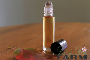 Personal Perfume Oil- PEPPERMINT BARK-- peppermint, chocolate delight - Lizzy Lane Farm Apothecary