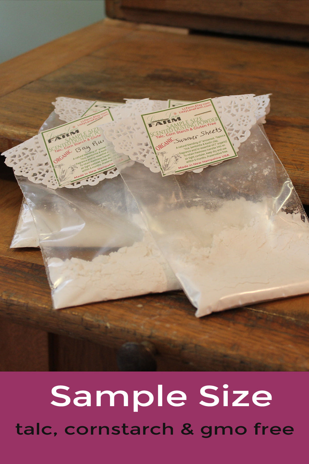powder samples- organic body powder