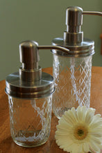 Load image into Gallery viewer, Mason Jar Soap Dispenser: Quilted Jelly Jar RUST PROOF LID - Lizzy Lane Farm Apothecary