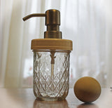 quilted jelly mason jar soap dispenser