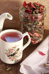 Organic Rose Hips -seedless - Loose Dried Herb (Rosa canina) Rose Hip Tea - Lizzy Lane Farm Apothecary