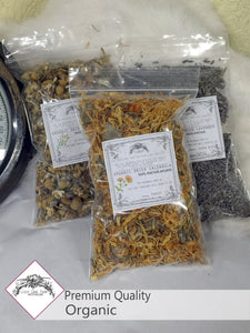 Dried Red Rose Buds & Petals: Organic Loose Rose Buds - Lizzy Lane Farm Apothecary