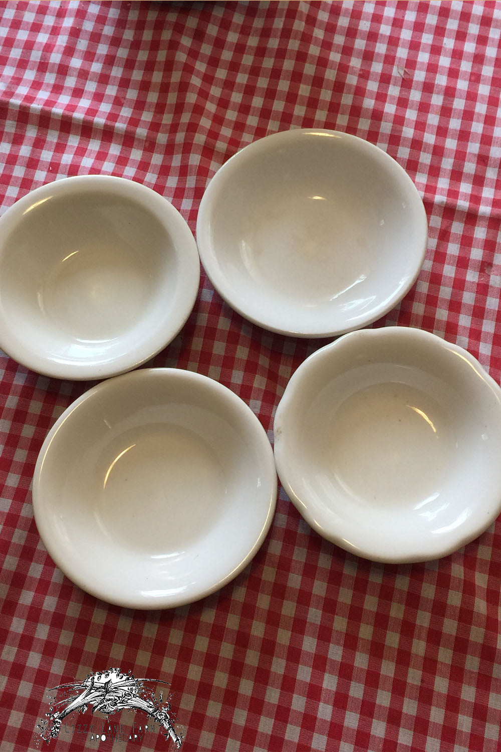 Buffalo China USA-Dessert/Fruit Bowls- mixed set - Lizzy Lane Farm Apothecary