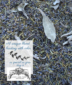 Something Blue Wedding Confetti • Wedding Toss • Real Dry Flowers • Petal Confetti- Aisle Scatter - Lizzy Lane Farm Apothecary
