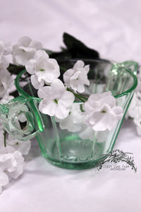 us scroll glass collection- star flower sugar bowl