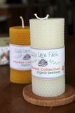Organic Beeswax Pillar Candle- Honeycomb
