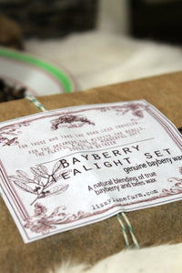 bayberry wax tea light candle-Lizzy Lane Farm