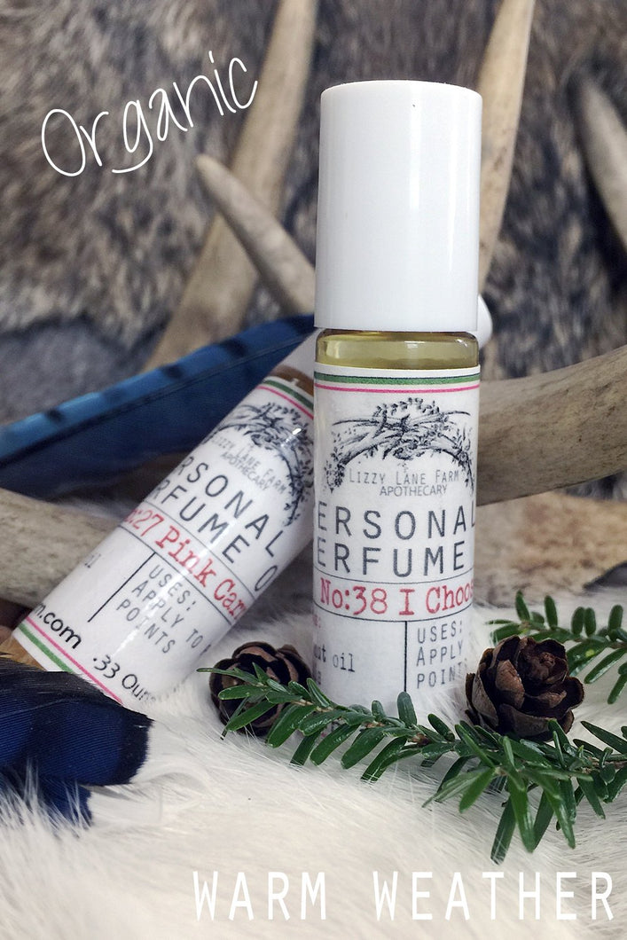 Personal Perfume Oil- warm weather collection- organic roll on perfume oil - Lizzy Lane Farm Apothecary