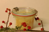100% organic beeswax crackle wick candle