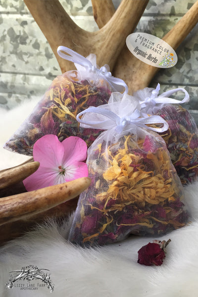 herbal sachets- organza sachet pary favors