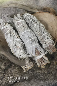 White Sage Leaf- Sage Smudge Bundle - Lizzy Lane Farm Apothecary